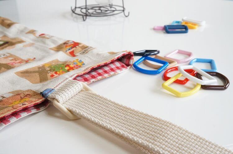 手作りバッグとDカン、角カンなど金具の選び方