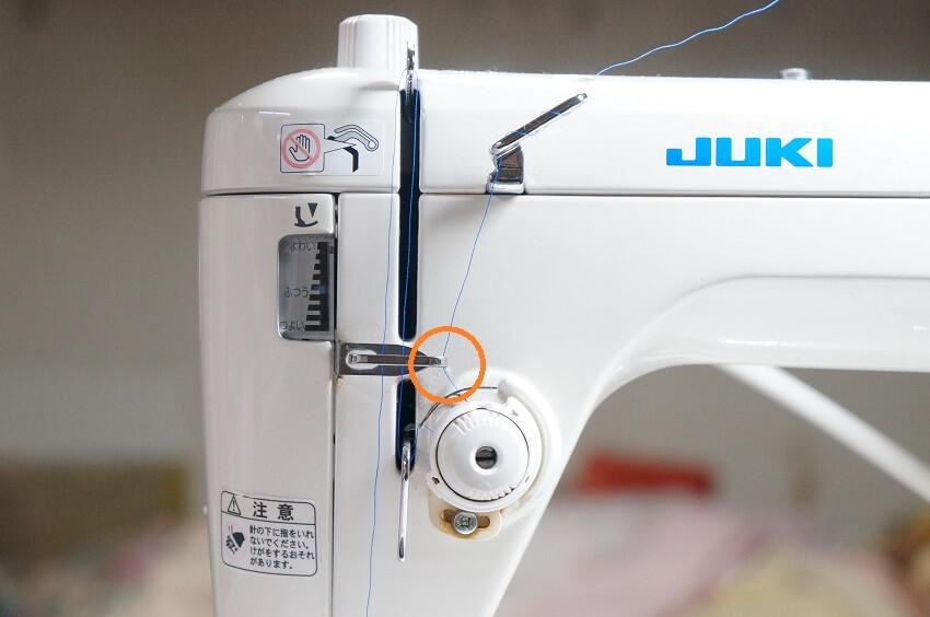 juki シュプール上糸のかけ方