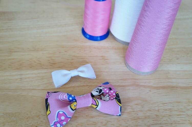 布リボン作りにも最適!ウーリー糸で仮止めする裏技とは