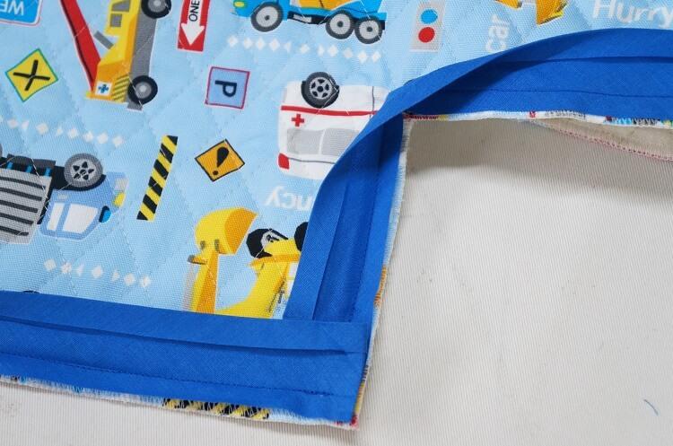 バイアステープ角の縫い方(凸凹角の処理方法)
