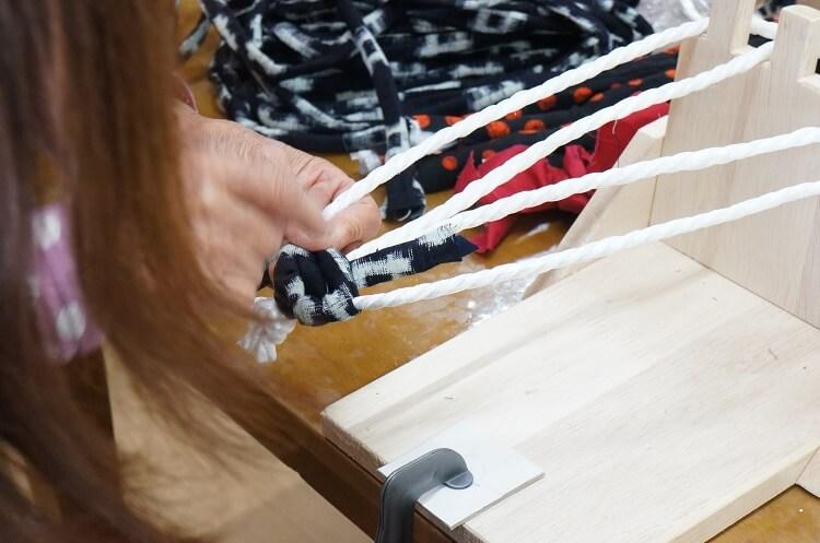 布ぞうりの編み方