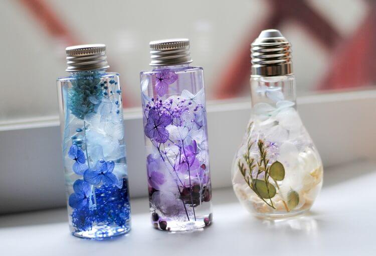 ハーバリウム用ガラス瓶