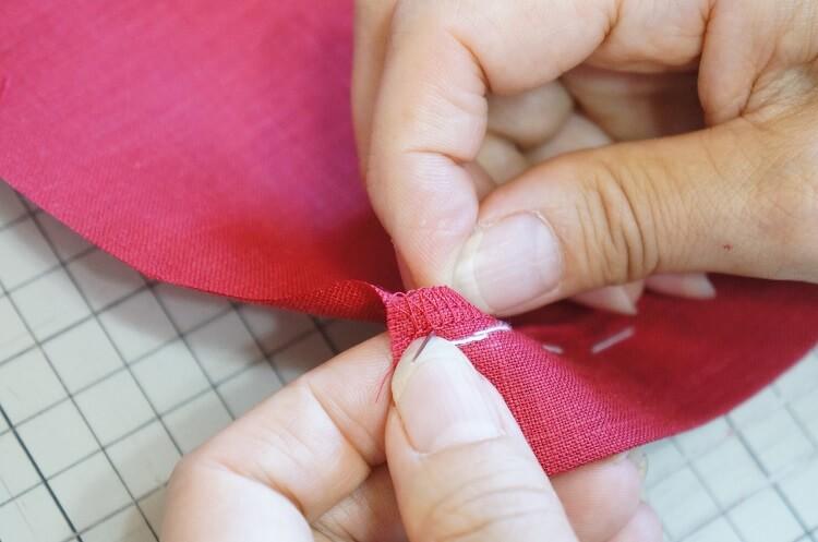 千鳥がけの縫い方