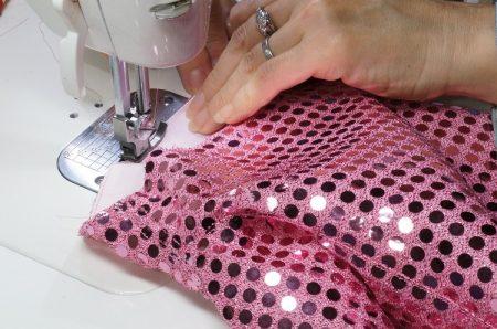 スパンコール生地の縫い方