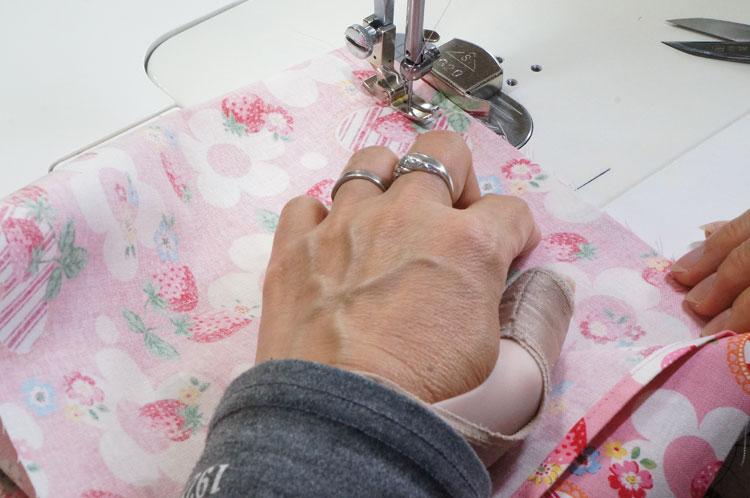 あづま袋の縫製