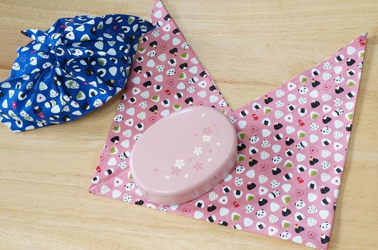あづま袋の作り方、お弁当入れや着替え袋としても便利