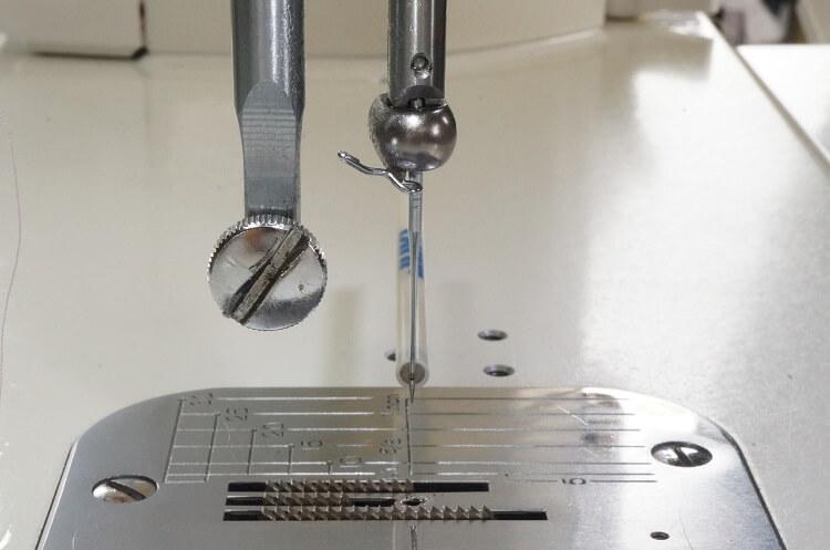 工業用ミシン針の合わせ方