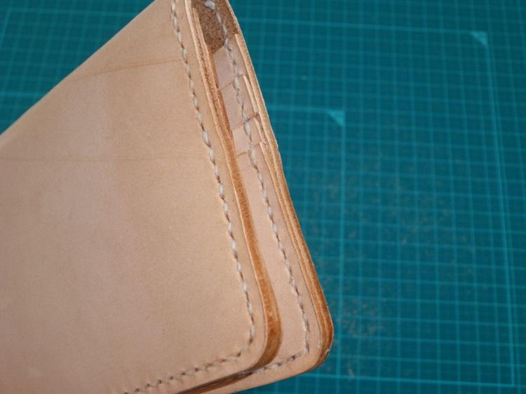 手作りの長財布