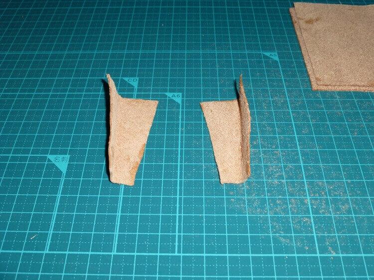三つ折り財布の作り方(型取り)