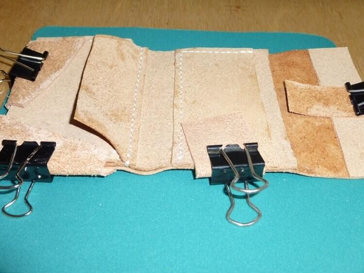 三つ折り財布の作り方(縫製