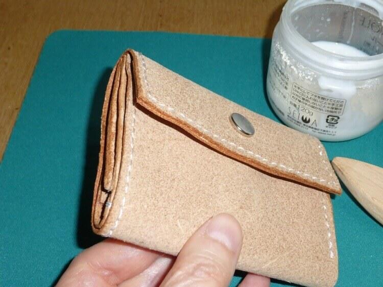 三つ折り財布の作り方(完成)