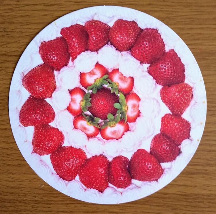 ショートケーキのガーランド