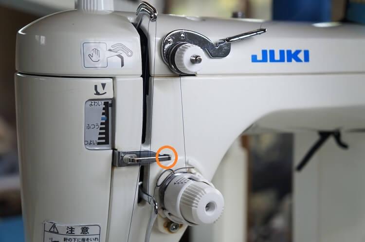 JUKI職業用ミシン 糸のかけ方