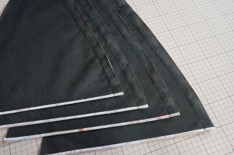 日傘の作り方(つなぎ合わせ)