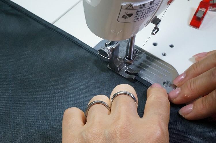 日傘の作り方(縫い代処理)