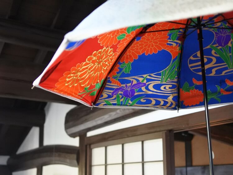 柴田民緒さんのリメイク傘