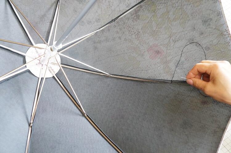 日傘の作り方(仕上げ)