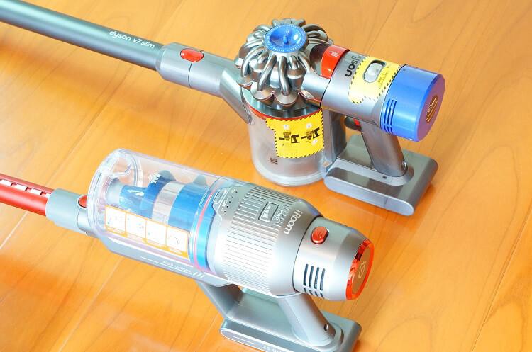 「ダイソンコードレス掃除機v7」と「iRoom(アイルーム)RS1」を主婦目線で比較レビュー【PR】